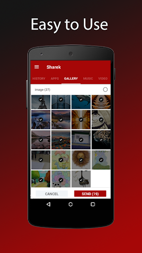 Sharek - Share Music & Transfer Files 1.3.85 screenshots 1