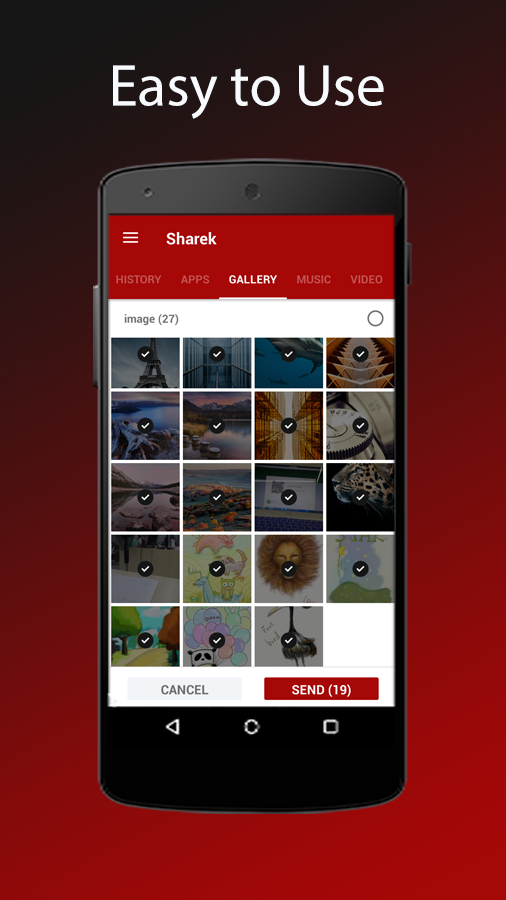 Sharek - File Transfer- screenshot
