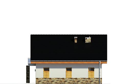 Jarząbek z garażem 1-st. A - Elewacja boczna