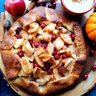 Apple Pear Cranberry Crostata with Pumpkin Caramel Sauce Recipe