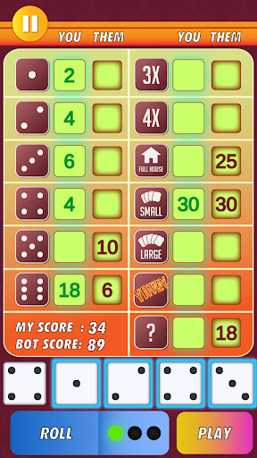Yatzy Classic Dice Game - Offline Free 3.1 screenshots 9