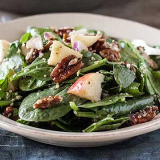 Spinach Apple + Pecan Salad Recipe