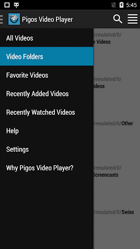 Pigos Video Player Fast Easy