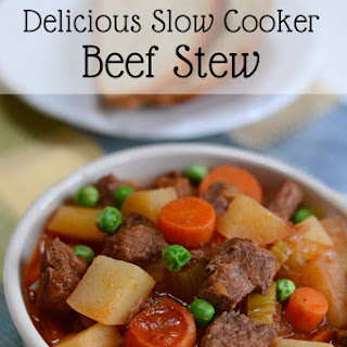 Simple and Delicious Slow Cooker Beef Stew.