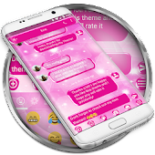 SMS Messages Sparkling Pink 2 Theme