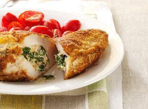 Spinach-stuffed Chicken Pockets Recipe