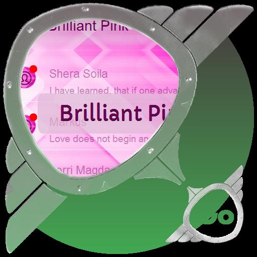 个人化のブリリアントピンクGo SMS LOGO-記事Game