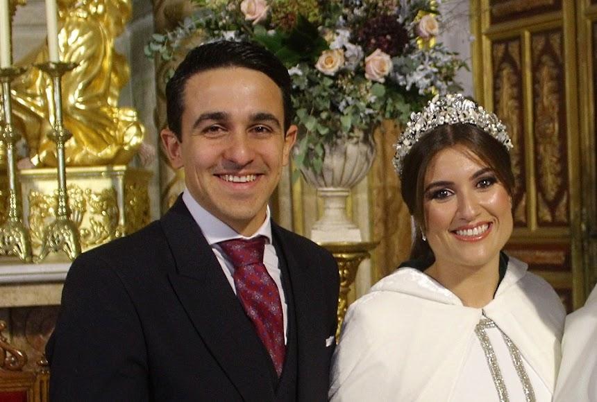 Manuel Javier Cañas y María del Mar Cantón, los novios