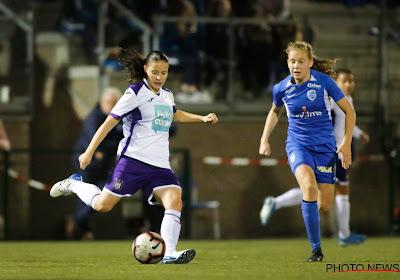 Anderlecht vrouwen zijn maximum kwijt na puntendeling in Genk