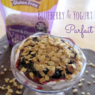 Blueberry and Yogurt Parfait.