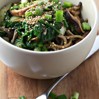 Bok Choy And Shiitake Soba Noodles.