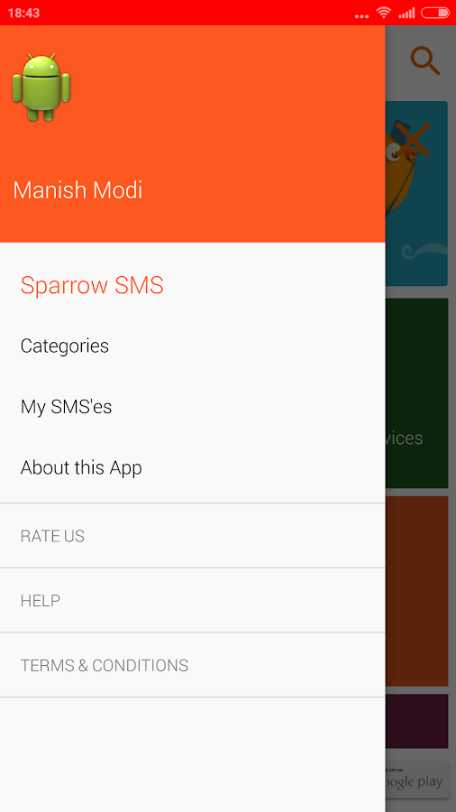 Sparrow App- screenshot