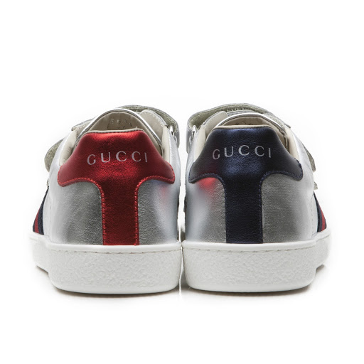 Thumbnail images of Gucci Leather Web Trainer Junior