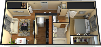 Go to One Bedroom (Phase 2) Floorplan page.