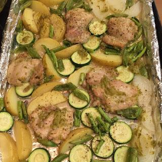 Great Green Sheet Pan Chicken Supper