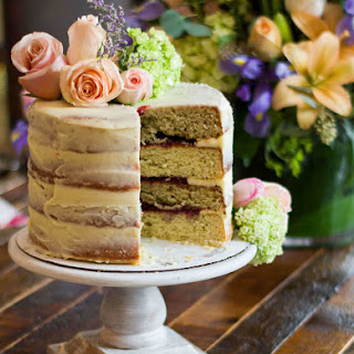 Lemon Poppy Seed and Raspberry Almond Layered Cake