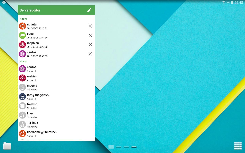 Serverauditor SSH client/shell- screenshot