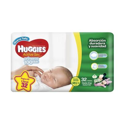 pañal huggies recien nacido x32 und