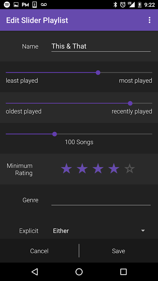 Songlytics for Spotify- screenshot