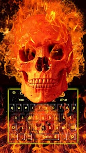 Fire Skull Keyboard - náhled