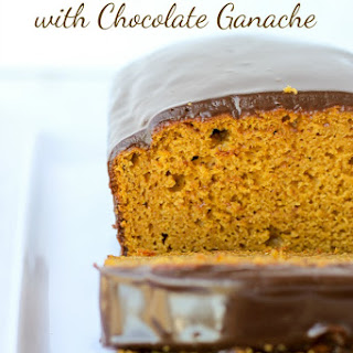 Pumpkin Bread with Chocolate Ganache