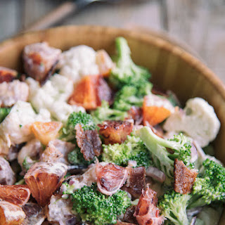 Broccoli, Cauliflower And Orange Salad.