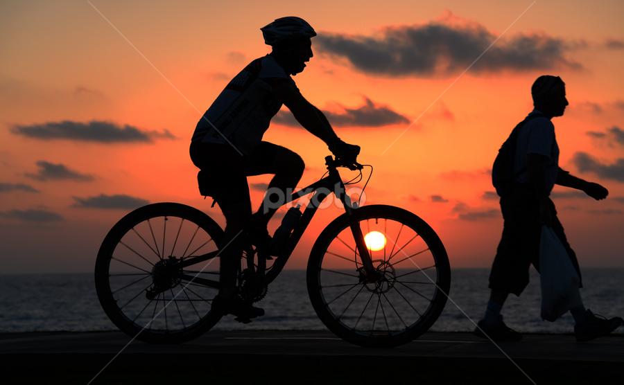 Sport at Sunset by Yuval Shlomo - Sports & Fitness Cycling