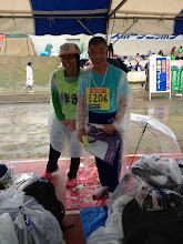 Photo: 金子さんとイルマ君。速かったですね!