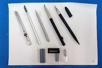 Photo: the Tamiya knifes, extremely sharp
