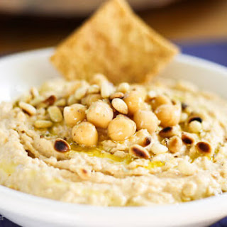 Chipotle Hummus With Roasted Pine Nuts