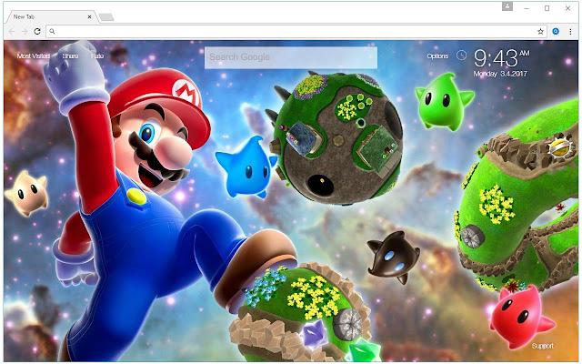 Super Mario Bros Theme HD Wallpapers New Tab