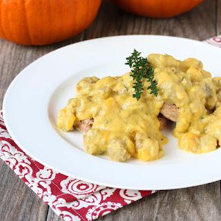 Pumpkin Sausage Gravy and Biscuits