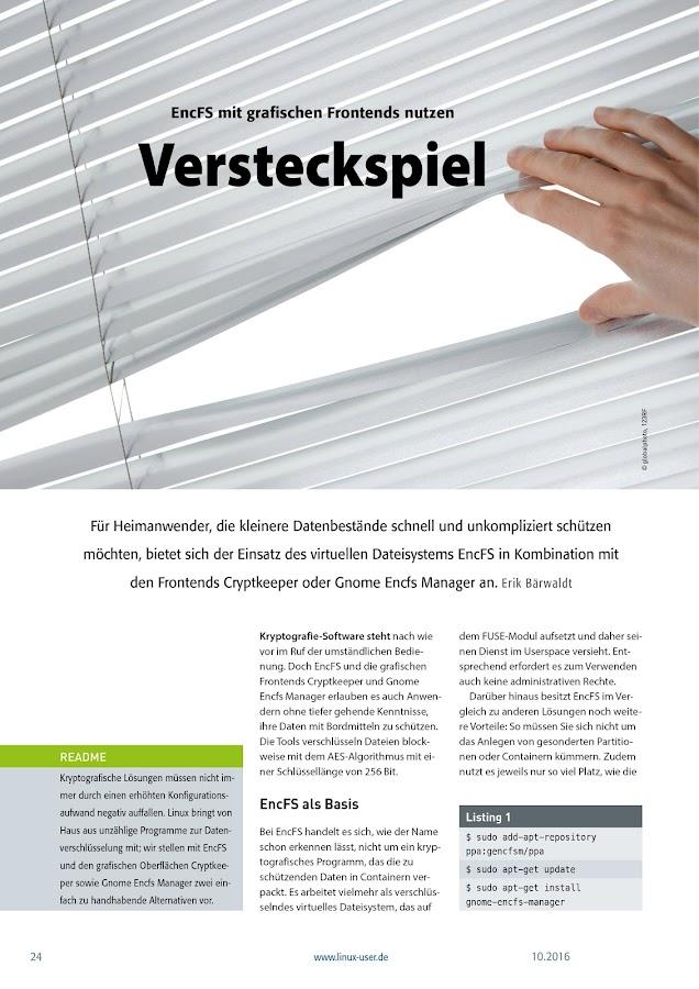 LinuxUser- screenshot