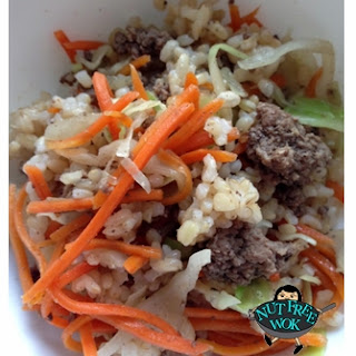 Beef Fried Rice with Cabbage and Carrots