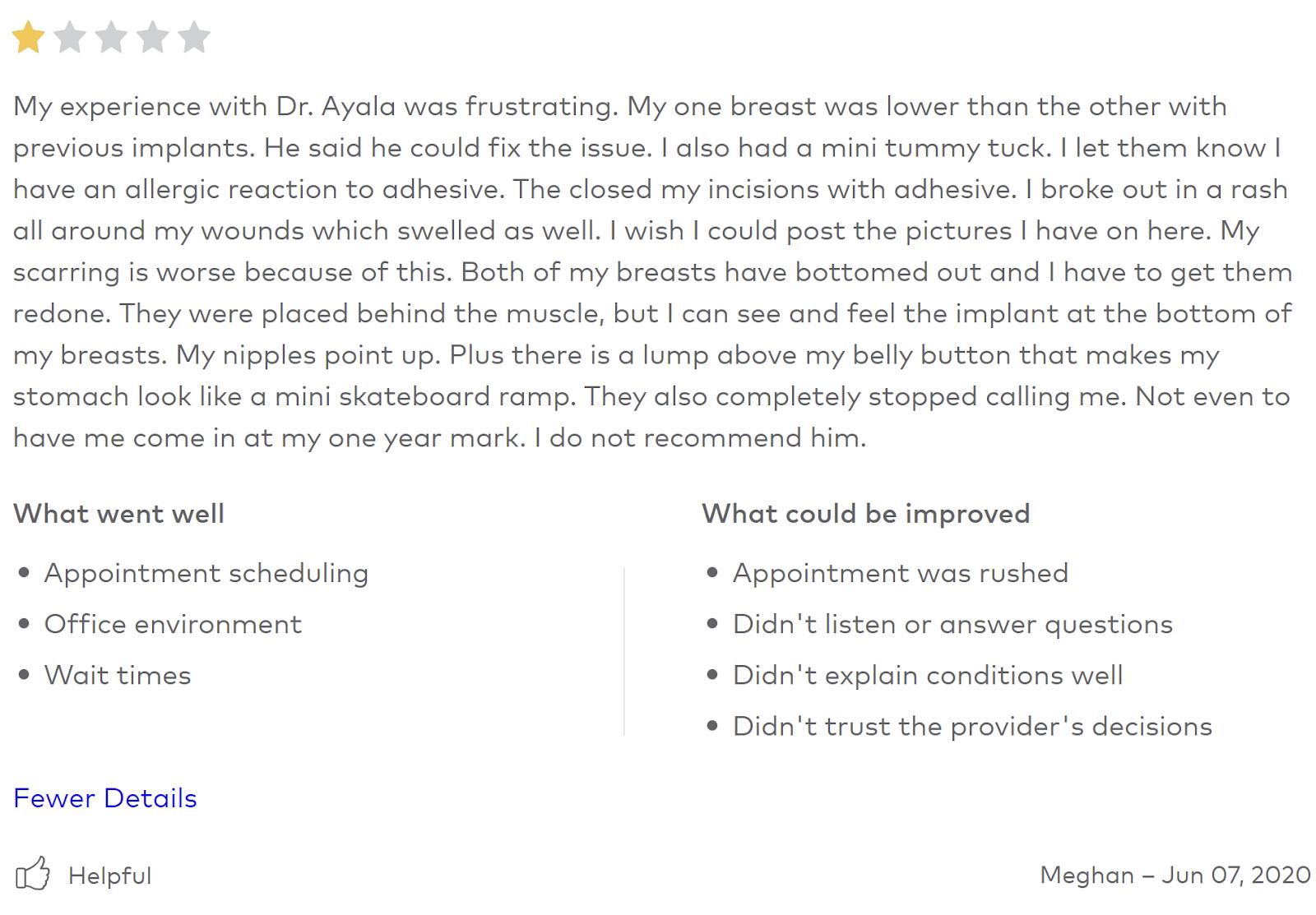 Ayala Plastic Surgery review