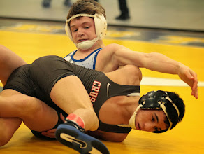Photo: 106 Adam McSorley (Hastings) over Nicholas Limenza (Bound Brook) Fall 2:36. Photo by Jeff Beshey.