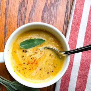 Creamy Crockpot Butternut Squash Apple Soup