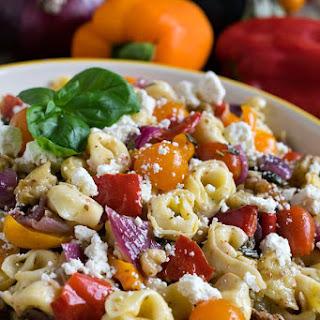 Tortellini Salad with Roasted Vegetables.