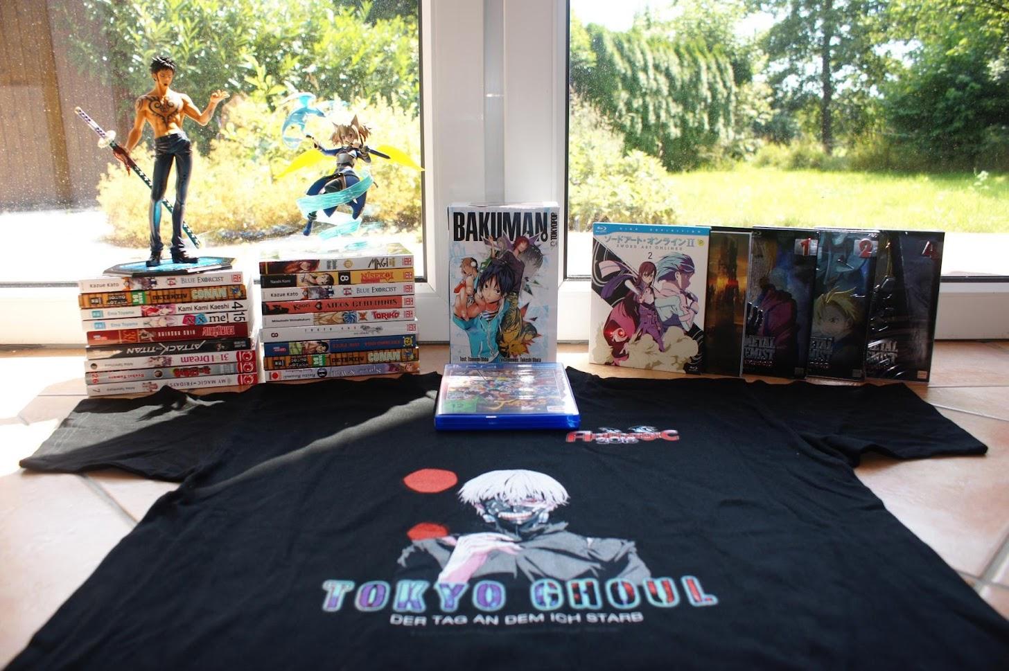 Loot Juli 2015 One Piece SAO Sword Art Online Tokyo Ghoul Fullmetal Alchemist Bakuman Animagic 2015