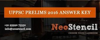 UPPSC Prelims 2016 Answer Key