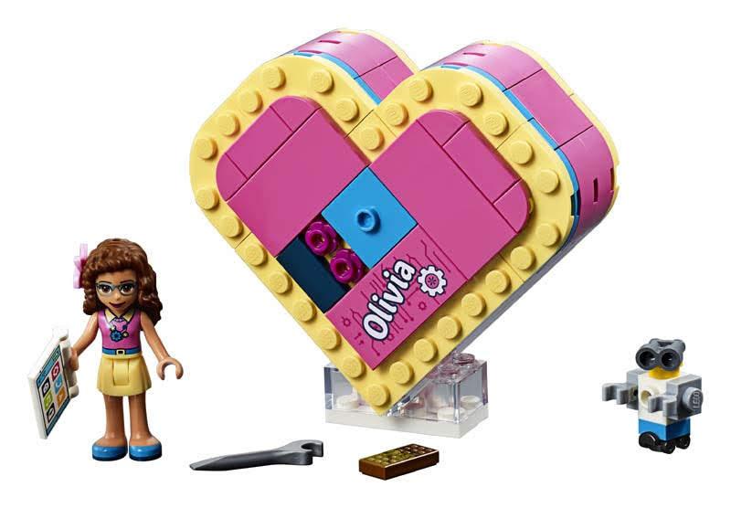 Contenido de Lego® 41357 Caja Corazón de Olivia