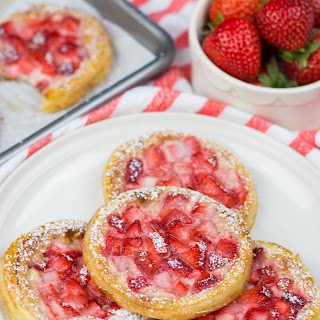 Pastries with Cream Cheese and Strawberries.