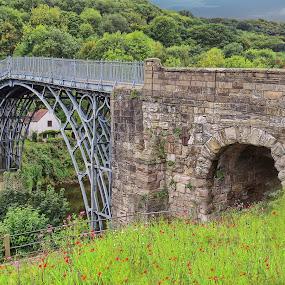 Ironbridge  by Simon Alun Hark - Novices Only Landscapes ( severn, ironbridge, bridge, shropshire, river )