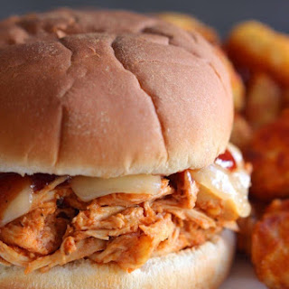 Shredded BBQ Chicken and Swiss Sandwiches.