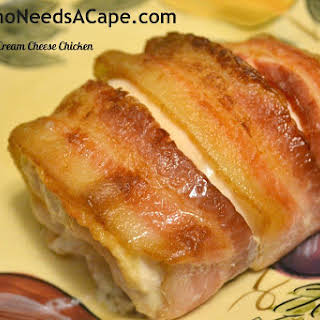Bacon Wrapped Cream Cheese Chicken.