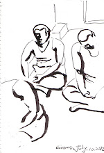 Photo: 靜坐2012.07.10鋼筆 新收要靜坐 違規要靜坐 低頭閉眼睛 管我想什麼