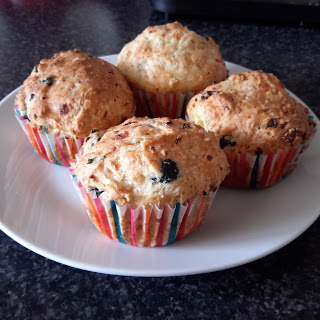 Black Olive And Cottage Cheese Muffins.
