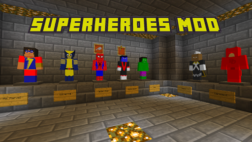 Superheroes MOD for MCPE PE