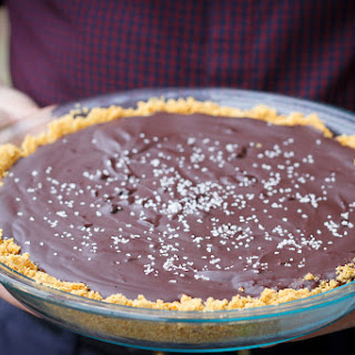 Salted Bourbon Chocolate Pie.