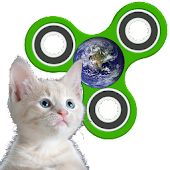 Fidget Spinner: Cats in Space